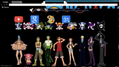 theme chrome zoro nico robin chrome themes themebeta
