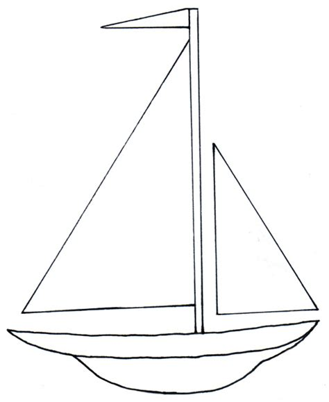simple boat template bilingual programs clipart tslac