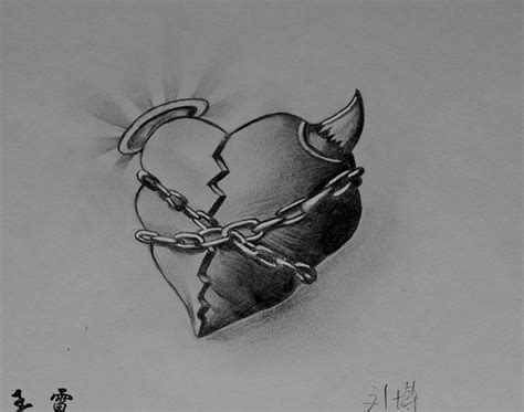 free tattoo designs broken heart tattoo flash