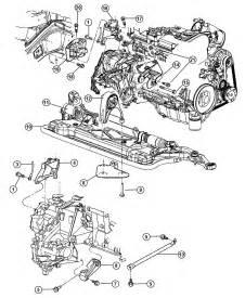 Chrysler Transmission Parts 2004 Chrysler Sebring Transmission Mounts Rear Mounts And