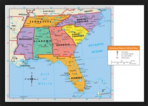 map of southeast usa map of the southeast region of the united states write
