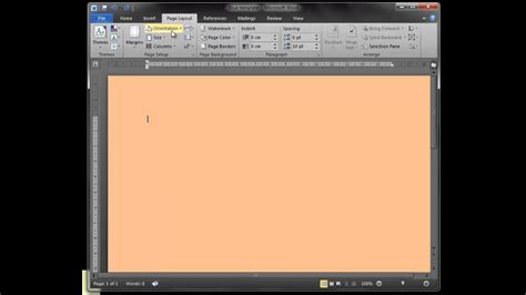 how to change page color in word how to change microsoft word page colour