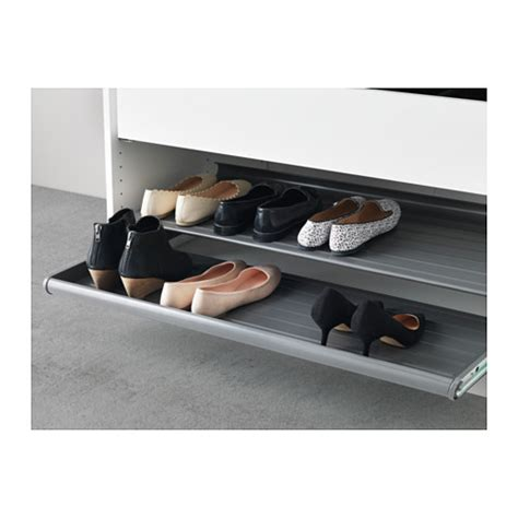 ikea pull out shelves komplement pull out shoe shelf dark grey 100x58 cm ikea