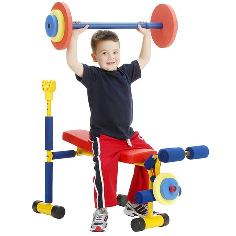 kids workout bench fun fitness weight bench for kids weight benches toy