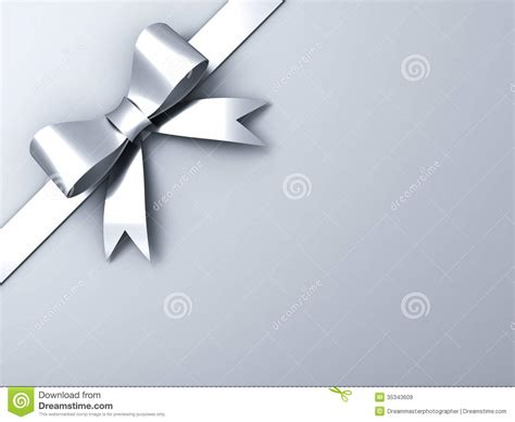 grey ribbon wallpaper silver ribbon bow on corner gray background stock