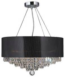 Drum Chandelier Shade Gatsby 8 Light Chrome Finish And Chandelier 20 Quot Black Acrylic Drum Shade Contemporary