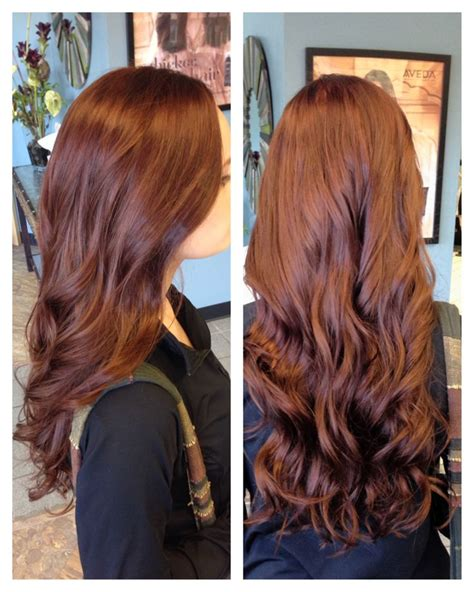 soft auburn brown hair pics brown red hair color with soft curls hair by me pinterest