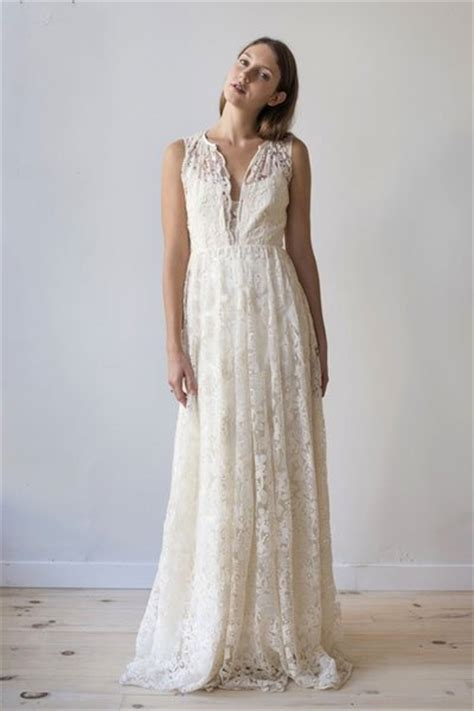 Vintage Hochzeitsschuhe by Vintage Hochzeitskleid Sanft Fallende Spitze