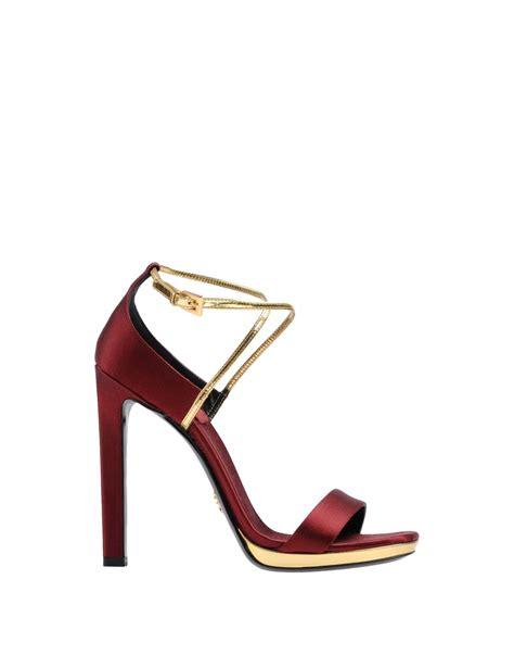 Sandal Wanita Trendy Pw02 Maroon prada platform sandals in brown maroon lyst
