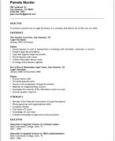legal secretary resume example free templates collection