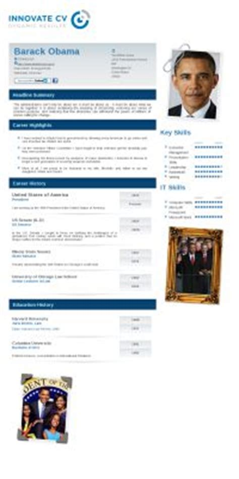 barack obama resume barack obama s innovate cv