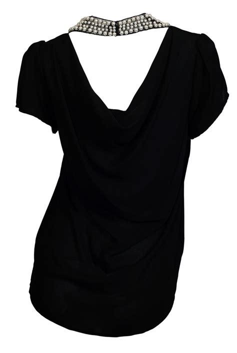 Blouse Black Pearl plus size pearl neck blouse black evogues apparel