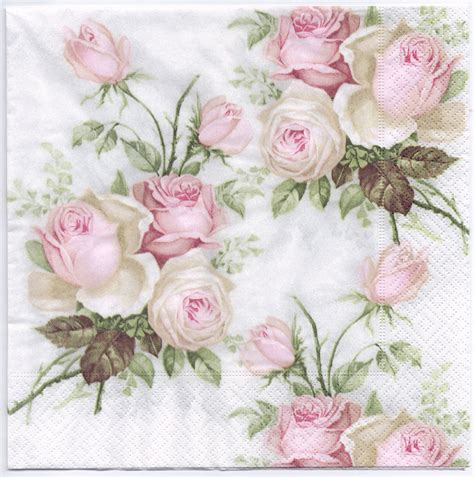 How To Decoupage With Paper Napkins - decoupage napkins of pastel bouquet chiarotino