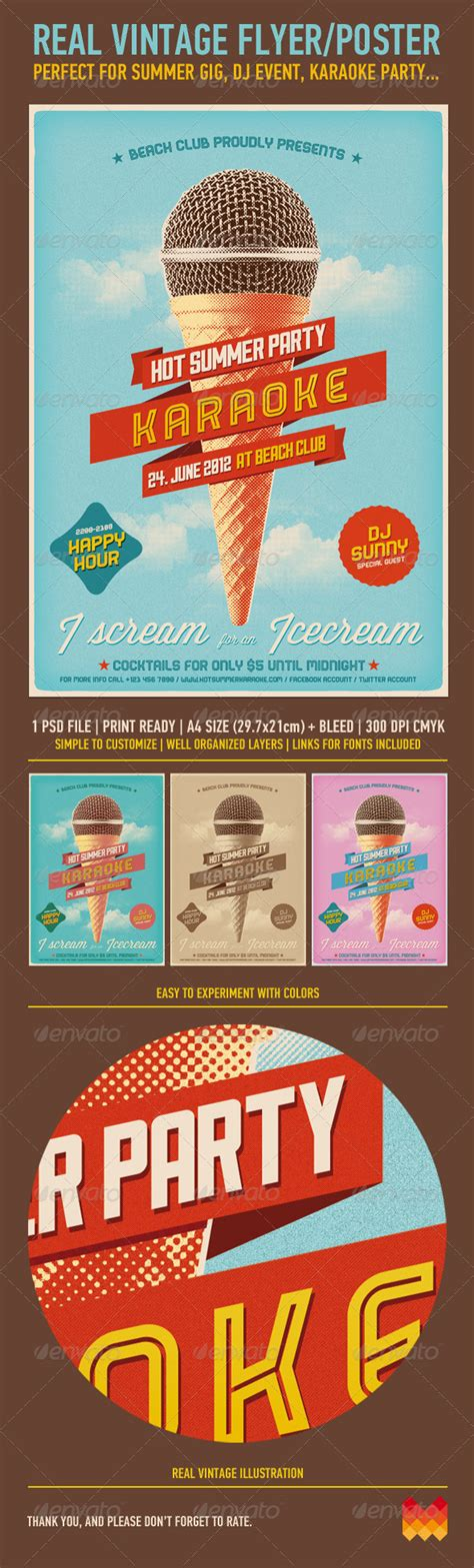 retro poster template 9 awesome vintage flyer templates wakaboom