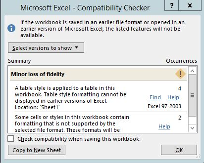 open checker save an excel workbook for compatibility with earlier