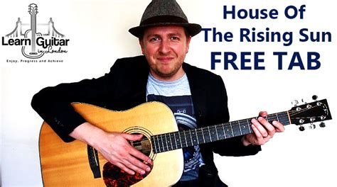 house of the rising sun guitar lesson house of the rising sun easy fingerstyle guitar tutorial learnguitarinlondon com