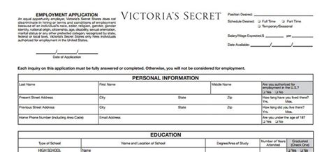 printable job applications victoria s secret victoria s secret application 2018 careers job
