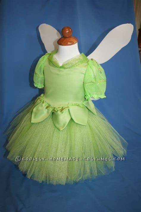 Handmade Tinkerbell Costume - pretty tinkerbell in a lantern handmade toddler costume