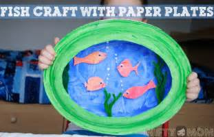 paper plate craft 3d fish scene