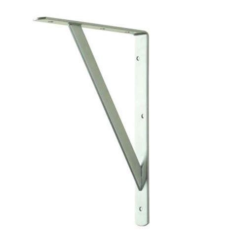 16 Shelf Bracket by Everbilt 18 In X 16 In White Heavy Duty Shelf Bracket 14835 The Home Depot