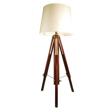 Tripod Floor Light Buy Libra Brown Wooden Tripod Floor L From Fusion