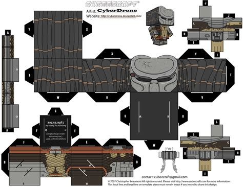 Cubee Papercraft - cubee predator masked by cyberdrone on deviantart