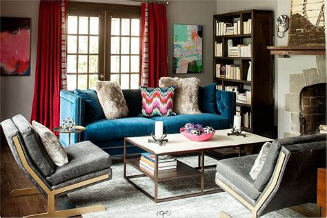 blue velvet sofa ideas  creating  royal living room