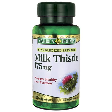 And Milk Thistle Saves Family From by Nature S Bounty Standardized Extract Milk Thistle 175 Mg
