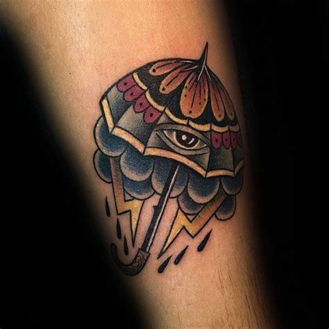 tattoo umbrella eye 60 umbrella tattoo designs for men protective ink ideas