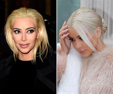 platinum blonde makeovers pic kim kardashian s white hair after platinum blonde