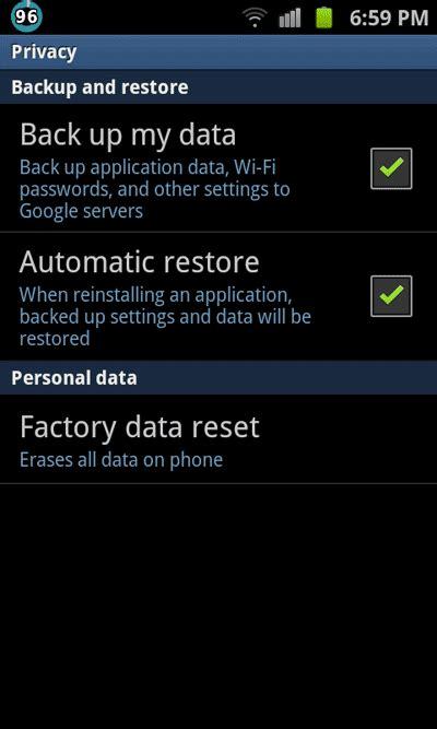 reset android ip آموزش ریست تنظیمات کارخانه factory reset گوشیهای آندروید