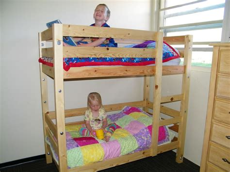 ana white toddler bunk beds diy projects