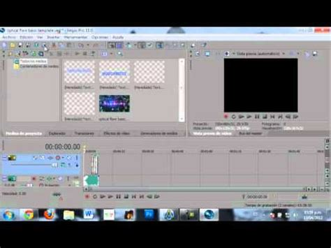 tutorial sony vegas pro 11 intro tutorial editar intros en sony vegas pro 11 youtube