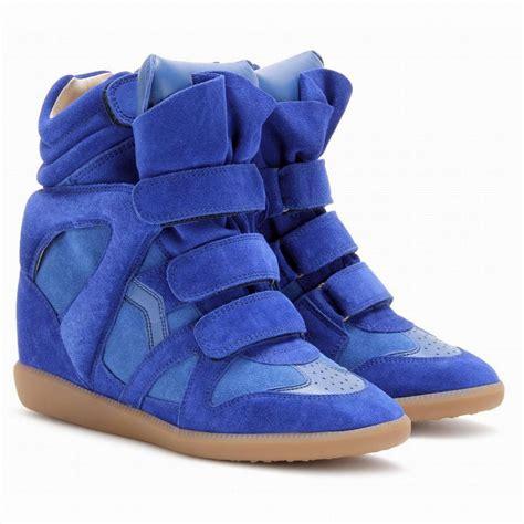 marant slippers ebay marant wedge sneakers bekket bright blue suede