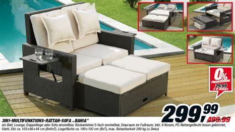 multifunktions lounge bett 3in1 multifunktions rattan sofa bahia toom ansehen
