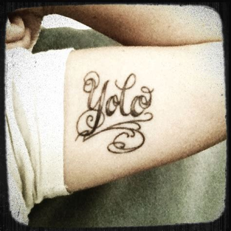 tattoo ideas you only live once yolo you only live once gettin inked