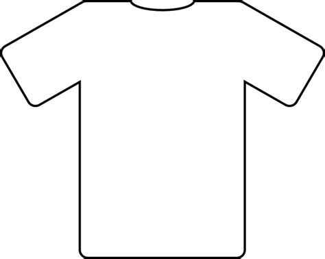 Football Shirt Outline shirt outlines clip at clker vector clip royalty free domain