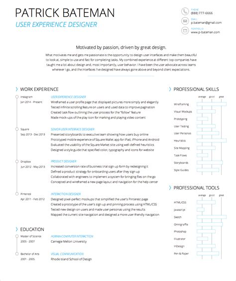 User Experience Researcher Sle Resume by Light Resume Easy On The And Your Printer Ux Movement