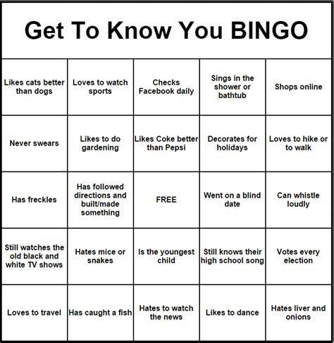 Introduction Bingo Template bingo icebreaker khafre