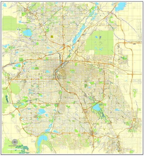 map denver colorado denver colorado printable map uscity plan editable
