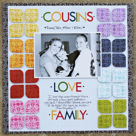 scrapbook layout cousins 84 best cousins images on pinterest cousins scrapbook