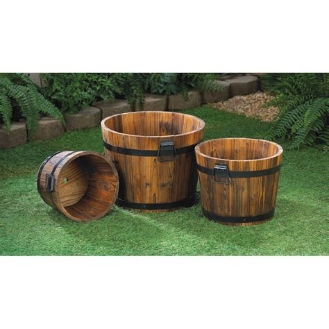 buy planters wholesale apple barrel planter trio buy wholesale garden