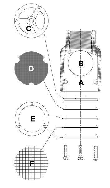 Dijamin Float Valve With Check Valve Side Fs 002 buck algonquin 53icv150fs inverted vent check valves float stops