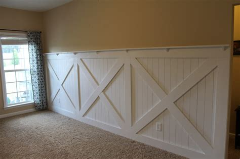 Bathroom Window Treatment Ideas Photos by Barn Door Wainscoting Tutorial Remodelaholic