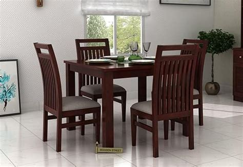 Teak Dining Room Table 4 seater dining table set online dining table four