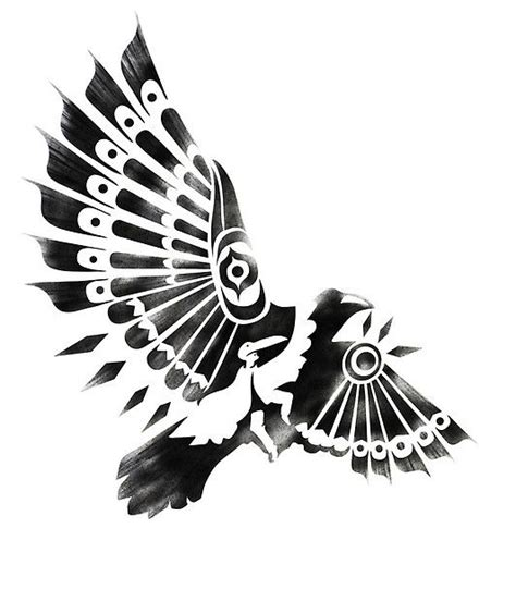 tribal crow tattoo shaman tribal tatoo