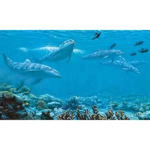 ocean wall mural dolphins large prepasted wall mural underwater ocean