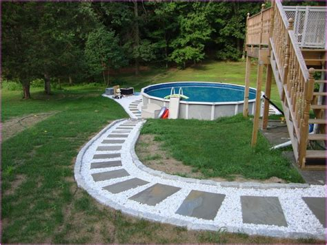 backyard above ground pool backyard landscape ideas with above ground pools home