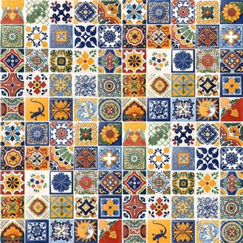 Mediterranean Home Decor Accents by 100 Hand Painted Talavera Mexican Tiles Mediterranean