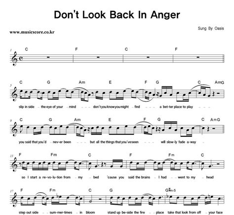 coldplay don t look back in anger chord chord oasis dont look back chord oasis dont look back